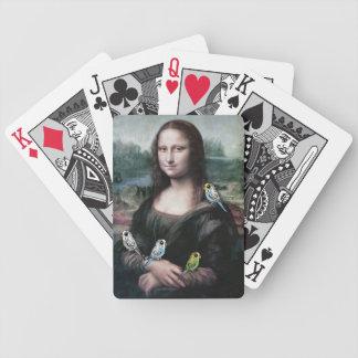 Mona Lisa & Budgies Bicycle Playing Cards