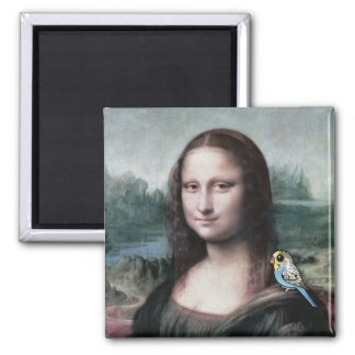 Mona Lisa & Budgies Magnet