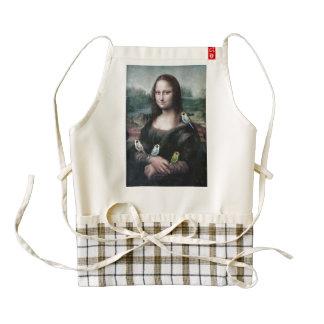 Mona Lisa & Budgies Zazzle HEART Apron