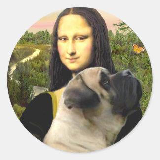 Mona Lisa - Bull Mastiff #1 Classic Round Sticker