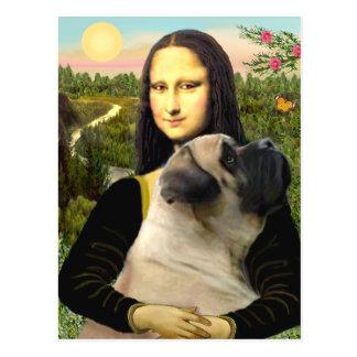 Mona Lisa - Bull Mastiff #1 Postcard