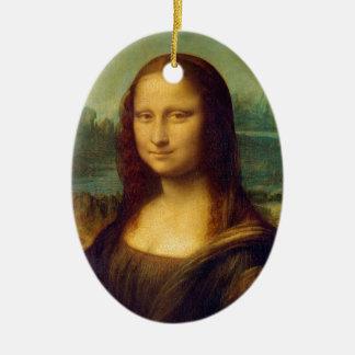 Mona Lisa by Leonardo da Vinci Ceramic Ornament
