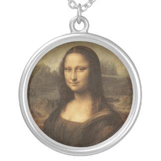 Mona Lisa by Leonardo da Vinci circa 1505-1513 Round Pendant Necklace