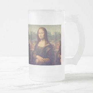 Mona Lisa by Leonardo da Vinci Frosted Glass Beer Mug