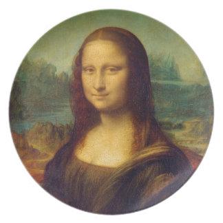 Mona Lisa by Leonardo da Vinci Melamine Plate