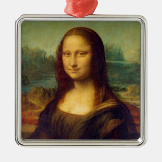 Mona Lisa by Leonardo da Vinci Metal Ornament