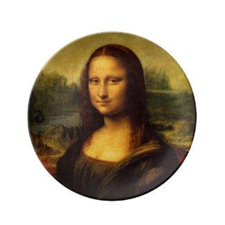 Mona Lisa by Leonardo da Vinci Porcelain Plate