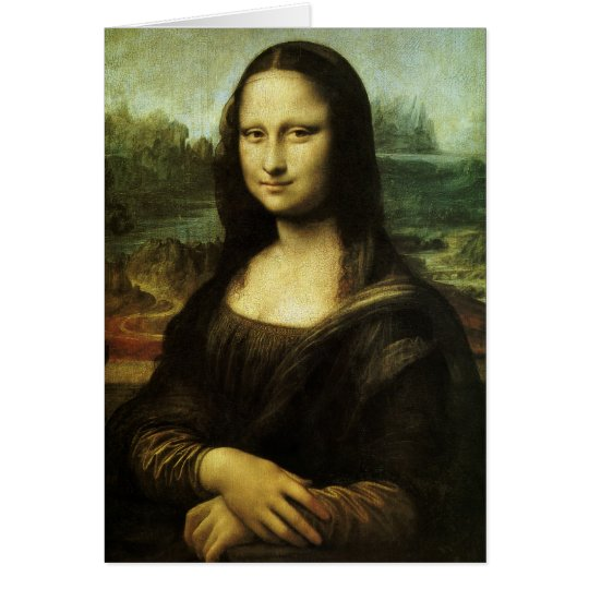 Mona Lisa by Leonardo da Vinci, Renaissance Art Card