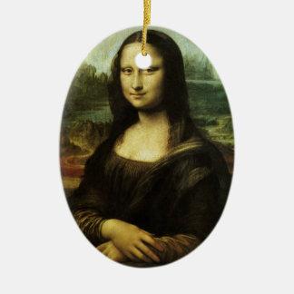 Mona Lisa by Leonardo da Vinci, Renaissance Art Ceramic Ornament
