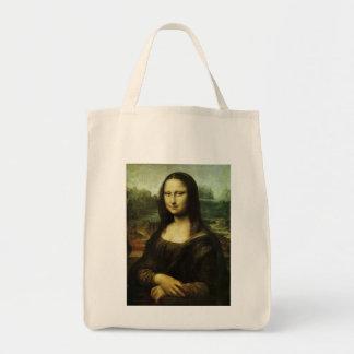 Mona Lisa by Leonardo da Vinci, Renaissance Art Grocery Tote Bag