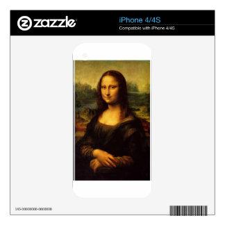 MONA LISA by LEONARDO DA VINCI Decals For The iPhone 4S
