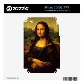 MONA LISA by LEONARDO DA VINCI iPhone 2G Decals