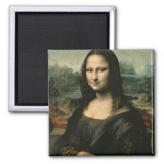 Mona Lisa, c.1503-6 2 Inch Square Magnet