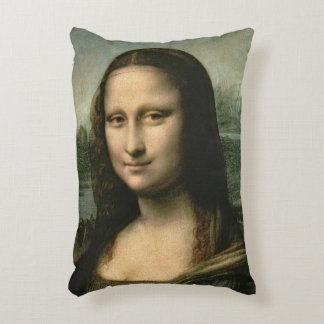 Mona Lisa, c.1503-6 Accent Pillow