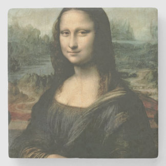 Mona Lisa, c.1503-6 (oil on panel) Stone Beverage Coaster