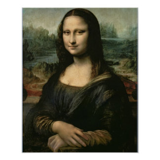 Mona Lisa, c.1503-6 (oil on panel) Print