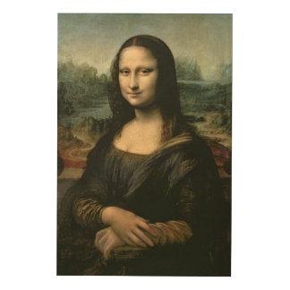 Mona Lisa, c.1503-6 (oil on panel) Wood Wall Art