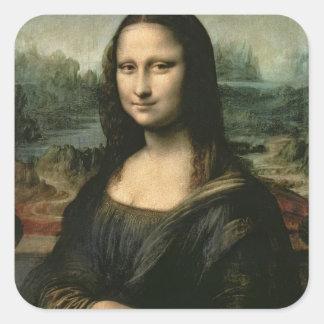 Mona Lisa, c.1503-6 Calcomanías Cuadradass