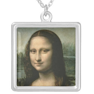 Mona Lisa, c.1503-6 Square Pendant Necklace