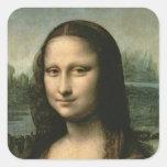 Mona Lisa, c.1503-6 Square Sticker