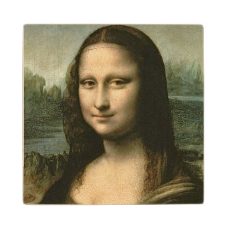 Mona Lisa, c.1503-6 Wooden Coaster