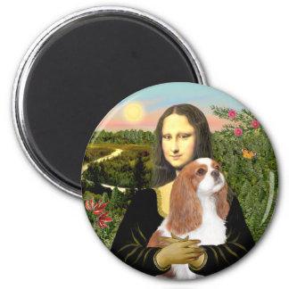Mona Lisa - caballeros de Blenheim (f) Imán Redondo 5 Cm