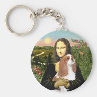 Mona Lisa - caballeros de Blenheim (f) Llaveros Personalizados