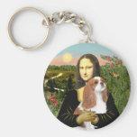 Mona Lisa - caballeros de Blenheim (f) Llavero Redondo Tipo Pin