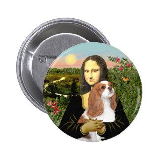 Mona Lisa - caballeros de Blenheim (f) Pin Redondo 5 Cm