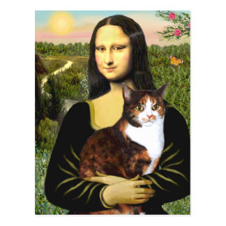 Mona Lisa - Calico cat Postcards