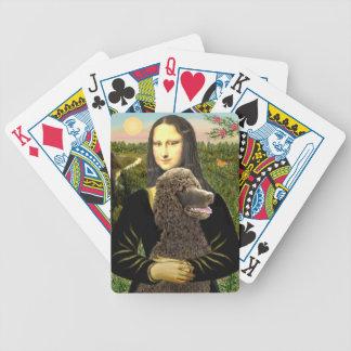 Mona Lisa - caniche estándar del chocolate Cartas De Juego