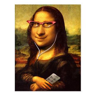 Mona Lisa Caricature Postcard
