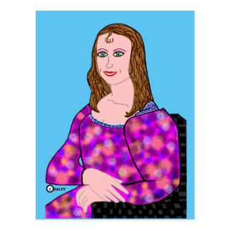 Mona Lisa Cartoon Image Postcard
