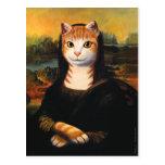 Mona Lisa Cat Postcard