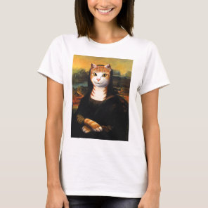 Mona Lisa Cat T-Shirt