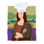 Mona Lisa Chef Postcard