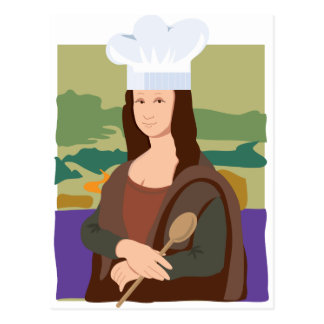 Mona Lisa Chef Post Card