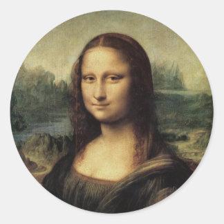 Mona Lisa Classic Round Sticker