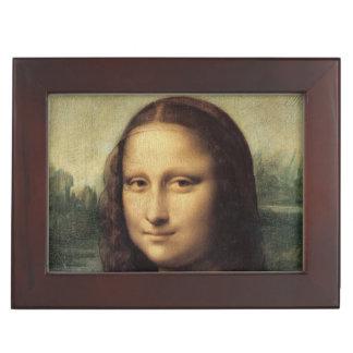 Mona Lisa close up by Leonardo da Vinci Memory Boxes
