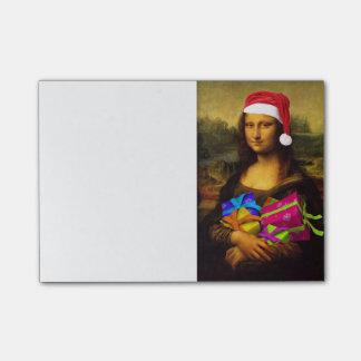 Mona Lisa Comes As Santa Claus Post-it Notes
