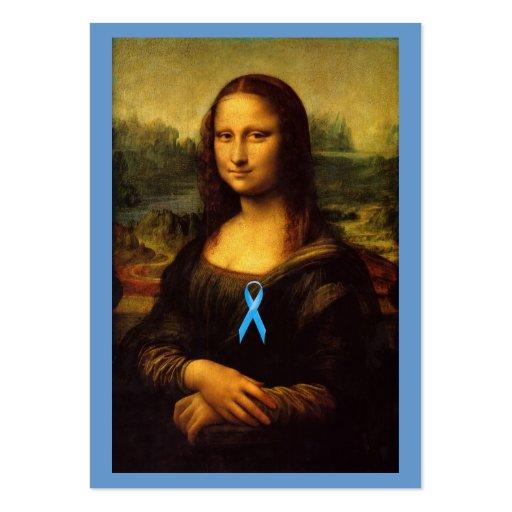 Mona Lisa con Blue Ribbon Tarjetas De Visita