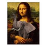 Mona Lisa con el elefante Postal