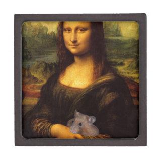 Mona Lisa con el hámster Cajas De Regalo De Calidad