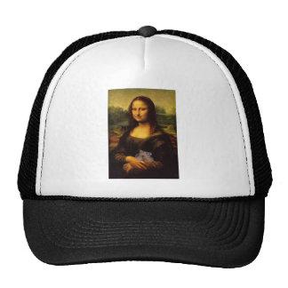 Mona Lisa con el hámster Gorros Bordados