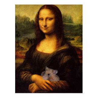 Mona Lisa con el hámster Tarjetas Postales