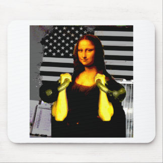 Mona Lisa con KettleBells Tapetes De Ratones