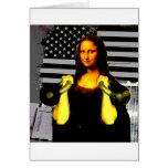 Mona Lisa con KettleBells Tarjeta De Felicitación