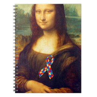 Mona Lisa con la cinta del rompecabezas Libretas