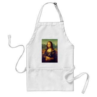 Mona Lisa con la cinta del rompecabezas Delantal