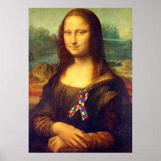 Mona Lisa con la cinta del rompecabezas Impresiones